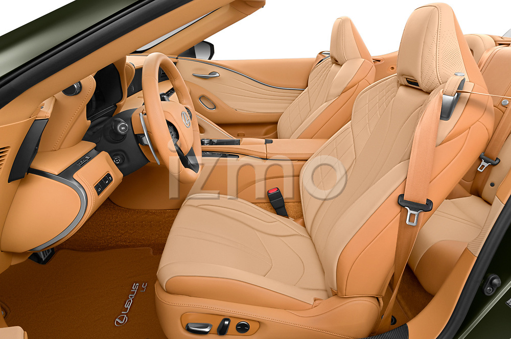 Front seat view of 2021 Lexus LC-Convertible 500 2 Door Convertible Front Seat  car photos