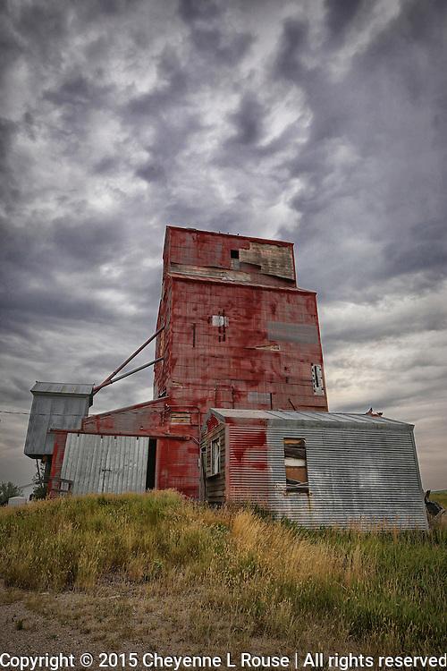 Red Grain Elevator (color - vertical)