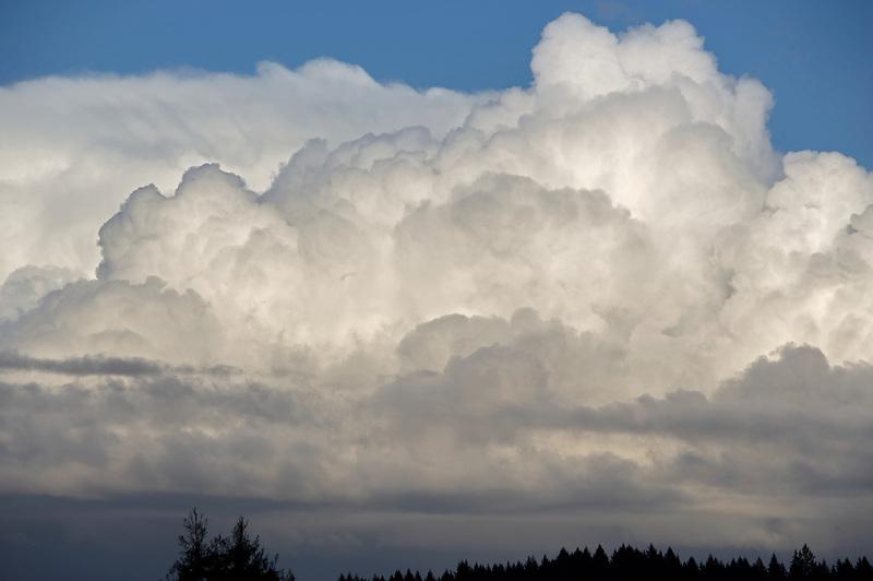 Thunderstorm clouds over Monroe, Oregon.