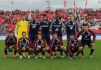 22 October 2011: New England Revolution starting eleven during a game between the New England Revolution and Toronto FC at BMO Field in Toronto.