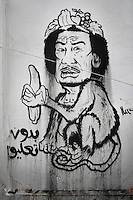 A cartoon drawing of Gaddafi. Fighting between forces loyal to Muammar Gaddafi and anti-government forces continue across Libya. On 17 February 2011 Libya saw the beginnings of a revolution against the 41 year regime of Col Muammar Gaddafi. ..