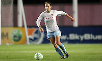 Chicago's Natalie Spilger (13) controls the ball.  Sky Blue defeated the Chicago Red Stars 1-0 in a mid-week game, Wednesday, June 17, at Yurcak Field.