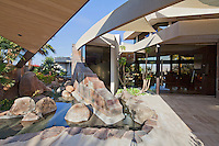 Dramatic entry to ultra modern home