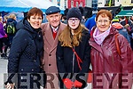 Marta, Pat, Laura Kate and Mary Spillane from Causeway enjoying the festive fun at the Snow Day in the square in Tralee on Saturday.