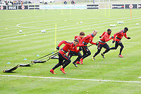 Danny Blum (Eintracht Frankfurt), Daichi Kamada (Eintracht Frankfurt), Marius Wolf (Eintracht Frankfurt), Jetro Willems (Eintracht Frankfurt), Taleb Tawatha (Eintracht Frankfurt) - 08.11.2017: Eintracht Frankfurt Training, Commerzbank Arena