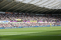 Pictured: Interior view of the stadium Saturday 15 August 2015<br />