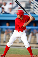 June 19, 2009:  Matt Carpenter of the Batavia Muckdogs first professional at bat during a game at Dwyer Stadium in Batavia, NY.  The Muckdogs are the NY-Penn League Short-Season Class-A affiliate of the St. Louis Cardinals.  Photo by:  Mike Janes/Four Seam Images