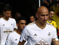 Jonjo Shelvey of Swansea   during the Barclays Premier League match Watford and Swansea   played at Vicarage Road Stadium , Watford