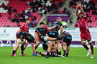 Nicolo Casilio of Zebre Rugby in action during the Guinness Pro14 Round 02 match between the Scarlets and Zebre Rugby at the Parc Y Scarlets Stadium in Llanelli, Wales, UK. Saturday 12 October 2019