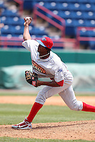 Clearwater Threshers pitcher Lisalverto Bonilla #24 during a game against the Brevard County Manatees at Space Coast Stadium on April 30, 2012 in Viera, Florida.  Clearwater defeated Brevard County 5-1.  (Mike Janes/Four Seam Images)