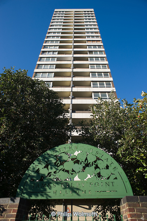 James Riley Point on the tenant-managed Carpenters Estate, Stratford, adjacent to the London 2012 Olympic site.