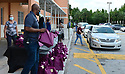 End of school belonging pick up amid coronavirus (COVID-19) pandemic. Pembroke Pines, Florida, USA