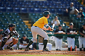 Siena Saints second baseman Jordan Bishop (4) during a game against the Pittsburgh Panthers on February 24, 2017 at Historic Dodgertown in Vero Beach, Florida.  Pittsburgh defeated Siena 8-2.  (Mike Janes/Four Seam Images)