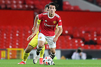 Facundo Pellistri of Manchester United in action during Manchester United vs Brentford, Friendly Match Football at Old Trafford on 28th July 2021