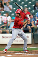 Memphis Redbirds third baseman Matt Carpenter #12 at bat during a game against the Round Rock Express at the Dell Diamond on July 7, 2011in Round Rock, Texas.  Round Rock defeated Memphis 6-4.  (Andrew Woolley / Four Seam Images)