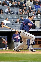 Apr 07, 2011; Bronx, NY, USA; Minnesota Twins catcher Joe Mauer (7) during game against the New York Yankees at Yankee Stadium. Yankees defeated the Twins 4-3. Mandatory Credit: Tomasso DeRosa /Four Seam Images