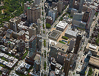 aerial photograph Broadway and Columbus Avenue, Manhattan, New York City