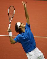 20-02-2006,Rotterdam, ABNAMROWTT , Federer in actie tegen Ljubicic