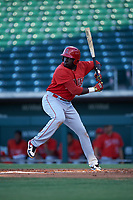 AZL Angels Cristian Gomez (37) at bat during an Arizona League game against the AZL Cubs 1 on June 24, 2019 at Sloan Park in Mesa, Arizona. AZL Cubs 1 defeated the AZL Angels 12-0. (Zachary Lucy / Four Seam Images)