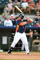 Houston Astros outfielder Preston Tucker (83) during a spring training game against the Miami Marlins on March 21, 2014 at Osceola County Stadium in Kissimmee, Florida.  Miami defeated Houston 7-2.  (Mike Janes/Four Seam Images)