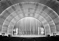International Music Hall, Radio City, New York. House with curtain down, from main orchestra, December 7, 1932.<br /> <br /> Photo by Gottscho-Schleisner.