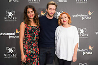 Hiba Abouk, Pablo Rivero and Carmen Machi during press conference of presentation of short film of Gas Natural Fenosa during Sitges Film Festival in Barcelona, Spain October 05, 2017. (ALTERPHOTOS/Borja B.Hojas) /NortePhoto.com /NortePhoto.com