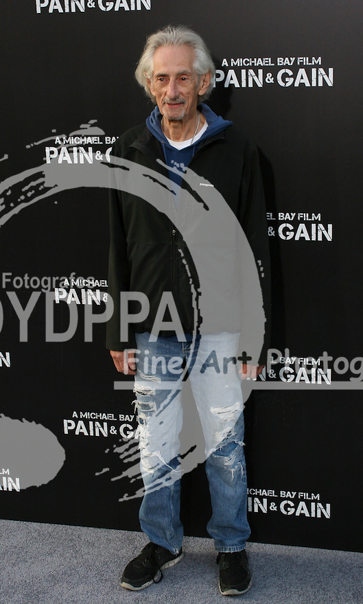 """Larry Hankin. Celebrities gathered at The TCL Chinese Theatre in Hollywood to attend the Los Angeles premiere of Paramount Picture's  PAIN & GAIN on April 22, 2013.<br /> Cast members and filmmakers attending include: Mark Wahlberg (Daniel Lugo), Dwayne Johnson (Paul Doyle), Michael Bay (Director), Anthony Mackie (Adrian Doorbal), Rebel Wilson (Robin Peck), Ed Harris (Ed Du Bois), Tony Shalhoub (Victor Kershaw), Rob Corddry (John Mese), Ken Jeong (Jonny Wu), Bar Paly (Sorina Luminita), Christopher Markus (Screenwriter), Stephen McFeely (Screenwriter), Donald DeLine (Producer)<br /> ABOUT PAIN & GAIN: <br /> From acclaimed director Michael Bay comes """"Pain & Gain,"""" a new action comedy starring Mark Wahlberg, Dwayne Johnson and Anthony Mackie. Based on the unbelievable true story of a group of personal trainers in 1990s Miami who, in pursuit of the American Dream, get caught up in a criminal enterprise that goes horribly wrong. Release Date:  April 26, 2013. Photo by Hilda Lazarte/ Unimedia/ DyD Fotografos"""