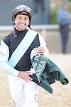 April 12, 2014:  Jockey Joe Bravo, winner of the Arkansas Derby (Grade I) at Oaklawn Park in Hot Springs, AR. Zoie Clift/ESW/CSM