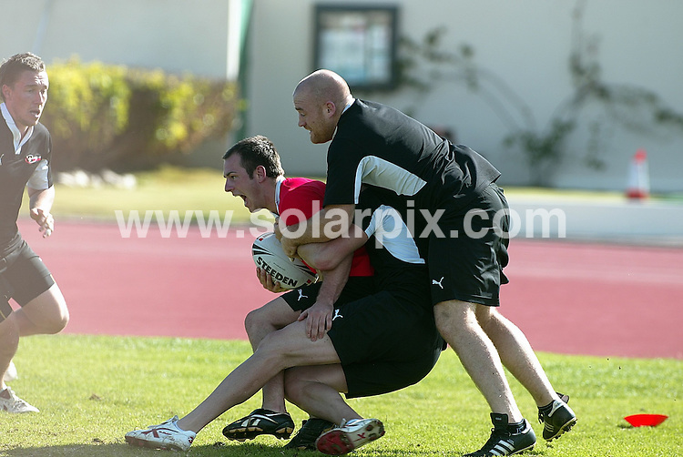 **ALL ROUND PICTURES FROM SOLARPIX.COM**.**WORLDWIDE SYNDICATION RIGHTS**.Harlequins Rugby Team take advantage of the winter break with a 7 day training session at Club La Santa, Lanzarote, Canary Islands, Spain. 12th January 2009.This pic: Harlequins Rugby Team..JOB REF: 8241 BFY        DATE: 12_01_2009.**MUST CREDIT SOLARPIX.COM OR DOUBLE FEE WILL BE CHARGED* *UNDER NO CIRCUMSTANCES IS THIS IMAGE TO BE REPRODUCED FOR ANY ONLINE EDITION WITHOUT PRIOR PERMISSION*