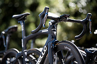 Team Ineos swaps to Lightweight wheels for climbing stages > Team Ineos' regular component & wheel supplier (since ever) has been Shimano, but now these super light (& super expensive!) Lightweight wheels were mounted on the team bikes to test ahead of the upcoming mountain stages<br /> <br /> Stage 5: Saint-Dié-des-Vosges to Colmar (175km)<br /> 106th Tour de France 2019 (2.UWT)<br /> <br /> ©kramon