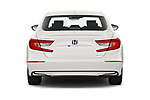 Straight rear view of 2021 Honda Accord-Hybrid EX-L 4 Door Sedan Rear View  stock images