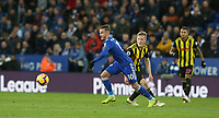 Leicester City's James Maddison gets away from Watford's Will Hughes  <br /> <br /> Photographer Stephen White/CameraSport<br /> <br /> The Premier League - Leicester City v Watford - Saturday 1st December 2018 - King Power Stadium - Leicester<br /> <br /> World Copyright © 2018 CameraSport. All rights reserved. 43 Linden Ave. Countesthorpe. Leicester. England. LE8 5PG - Tel: +44 (0) 116 277 4147 - admin@camerasport.com - www.camerasport.com