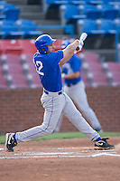 Jake Lemmerman #12 of the Duke Blue Devils follows through on his swing against the Wake Forest Demon Deacons at the Wake Forest Baseball Park April 23, 2010, in Winston-Salem, NC.  Photo by Brian Westerholt / Sports On Film