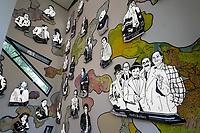 """Wiedereroeffnung des Juedischen Muesum in Berlin.<br /> Im Bild: Eine """"Hall of Fame"""" mit juedischen Personen aus Kultur und Politik.<br /> 18.8.2020, Berlin<br /> Copyright: Christian-Ditsch.de<br /> NUR FUER REDAKTIONELLE ZWECKE! Werbung nur auf Anfrage beim Fotografen. [Inhaltsveraendernde Manipulation des Fotos nur nach ausdruecklicher Genehmigung des Fotografen. Vereinbarungen ueber Abtretung von Persoenlichkeitsrechten/Model Release der abgebildeten Person/Personen liegen nicht vor. NO MODEL RELEASE! Don't publish without copyright Christian-Ditsch.de, Veroeffentlichung nur mit Fotografennennung, sowie gegen Honorar, MwSt. und Beleg. Konto: I N G - D i B a, IBAN DE58500105175400192269, BIC INGDDEFFXXX, Kontakt: post@christian-ditsch.de<br /> Bei der Bearbeitung der Dateiinformationen darf die Urheberkennzeichnung in den EXIF- und  IPTC-Daten nicht entfernt werden, diese sind in digitalen Medien nach §95c UrhG rechtlich geschuetzt. Der Urhebervermerk wird gemaess §13 UrhG verlangt.]"""
