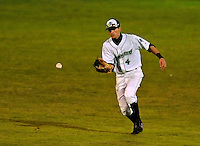 22 June 2009: Vermont Lake Monsters' outfielder Jay Sferra in action against the Tri-City ValleyCats at Historic Centennial Field in Burlington, Vermont. The Lake Monsters defeated the visiting ValleyCats 5-4 in extra innings. Mandatory Photo Credit: Ed Wolfstein Photo