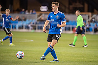 SAN JOSE, CA - MAY 01: Tanner Beason #15 of the San Jose Earthquakes passes the ball during a game between San Jose Earthquakes and D.C. United at PayPal Park on May 01, 2021 in San Jose, California.