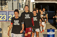 HERRIMAN, UT - JULY 18: OL Reign FC Pre-game Ceremony during a game between Chicago Red Stars and OL Reign at Zions Bank Stadium on July 18, 2020 in Herriman, Utah.