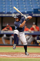 Tampa Bay Rays second baseman Kean Wong (7) during an Instructional League game against the Boston Red Sox on September 25, 2014 at Tropicana Field in St. Petersburg, Florida.  (Mike Janes/Four Seam Images)