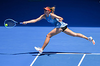 January 20, 2019: 30th seed Maria Sharapova of Russia in action in the fourth round match against 15th seed Ashleigh Barty of Australia on day seven of the 2019 Australian Open Grand Slam tennis tournament in Melbourne, Australia. Barty won 46 61 64. Photo Sydney Low