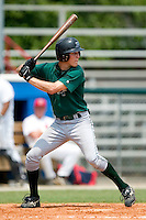 Princeton Devil Rays shortstop Shawn O'Malley stands in at the plate versus the Burlington Indians at Burlington Athletic Park in Burlington, NC, Wednesday, July 19, 2006.
