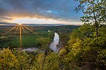 Buffalo National River, Arkansas:<br /> Sunset clouds over the Buffalo River near Tyler Bend