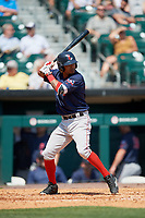 Pawtucket Red Sox shortstop Deiner Lopez (24) at bat during a game against the Buffalo Bisons on June 28, 2018 at Coca-Cola Field in Buffalo, New York.  Buffalo defeated Pawtucket 8-1.  (Mike Janes/Four Seam Images)
