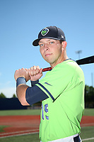 Drew Ellis (15) of the Hillsboro Hops poses for a photo before a game against the Spokane Indians at Ron Tonkin Field on July 23, 2017 in Hillsboro, Oregon. Spokane defeated Hillsboro, 5-3. (Larry Goren/Four Seam Images)