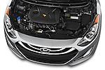 High angle engine detail of a  .2013 Hyundai Elantra GT Hatchback