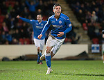 St Johnstone v Dundee United...27.12.14   SPFL<br /> Michael O'Halloran celebrates his goal<br /> Picture by Graeme Hart.<br /> Copyright Perthshire Picture Agency<br /> Tel: 01738 623350  Mobile: 07990 594431