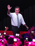 Republican presidential candidate, former Massachusetts Gov. Mitt Romney campaigns in Reno, Nev., on Wednesday, Oct. 24, 2012. (AP Photo/Cathleen Allison)
