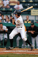 April 23, 2010 Infielder Brock Holt of the Bradenton Marauders, Florida State League Class-A affiliate of the Pittsburgh Pirates, during a game at McKenhnie Field in Bradenton Fl. Photo by: Mark LoMoglio/Four Seam Images