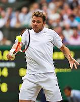 England, London, 28.06.2014. Tennis, Wimbledon, AELTC, Stan Wawrinka (SUI)<br /> Photo: Tennisimages/Henk Koster