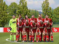 Goalkeeper Lise Musique (1) of Standard, Maurane Marinucci (7) of Standard , Loredana Humartus (33) of Standard, Yuna Appermont (6) of Standard , Sylke Calleeuw (9) of Standard, Aster Janssens (5) of Standard  (front row L to R) Noemie Gelders (10) of Standard, Charlotte Cranshoff (18) of Standard , Davinia Vanmechelen (25) of Standard , Elien Nelissen (15) of Standard and Gwyneth Vanaenrode (3) of Standard  pose for the team photo to Standard club photographer before a female soccer game between Standard Femina de Liege and Oud Heverlee Leuven on the 10th and last matchday in play off 1 of the 2020 - 2021 season of Belgian Scooore Womens Super League , saturday 29 th of May 2021  in Angleur , Belgium . PHOTO SPORTPIX.BE | SPP | SEVIL OKTEM