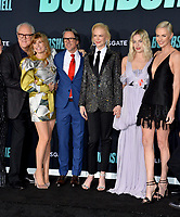 """LOS ANGELES, USA. December 11, 2019: John Lithgow, Connie Britton, Charles Randolph, Nicole Kidman, Margot Robbie & Charlize Theron at the premiere of """"Bombshell"""" at the Regency Village Theatre.<br /> Picture: Paul Smith/Featureflash"""